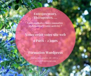 Formation WordPress Paris 75 création site
